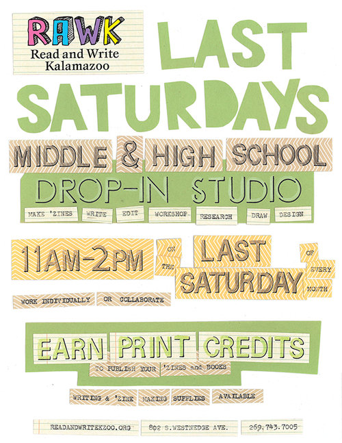Last Saturdays Schedule Read and Write - Read and Write Kalamazoo